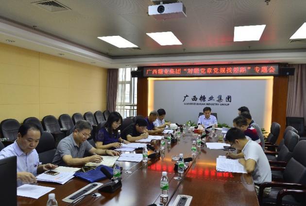 """廣糖集團黨委召開""""對照黨章黨規找差距""""專題會議"""