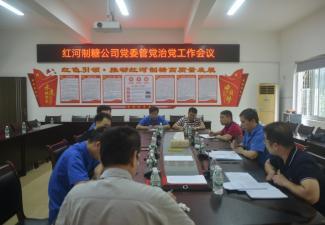 紅河制糖公司黨委召開管黨治黨工作會議